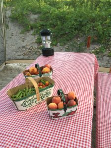 Camping local food